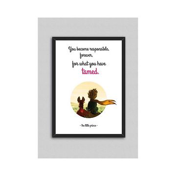 Little Prince Quote V8 kép, 33 x 43 cm - North Carolina Scandinavian Home Decors