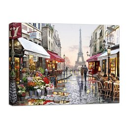 Canvas Watercolor Paris I fali kép, 75 x 100 cm - Styler