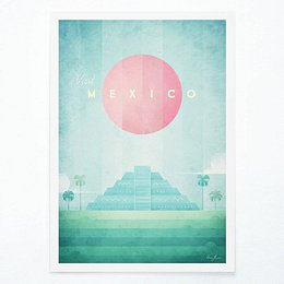 Mexico poszter, A2 - Travelposter
