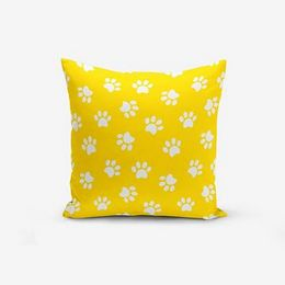 Yellow Background Pati sárga pamutkeverék párnahuzat, 45 x 45 cm - Minimalist Cushion Covers